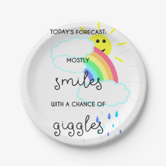 Happy Forecast Paper Plate