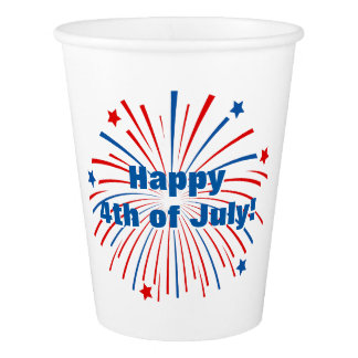 Happy fourth 4th of July paper party cups Paper Cup