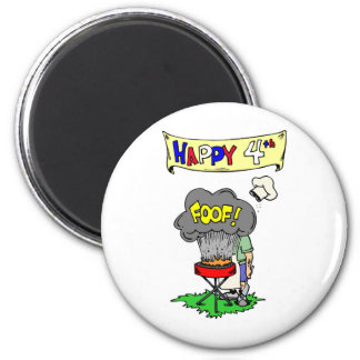 Happy Fourth Cookout Fridge Magnets