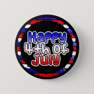 Happy Fourth of July Button