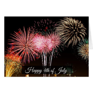 Happy Fourth of July Fireworks Card