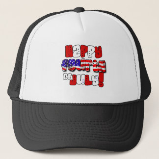 Happy Fourth of July Gear Trucker Hat