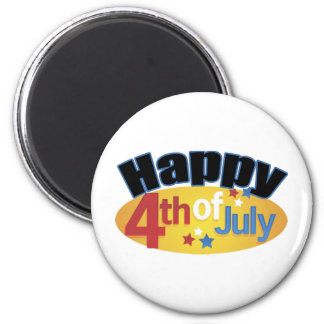 Happy Fourth Of July Magnet
