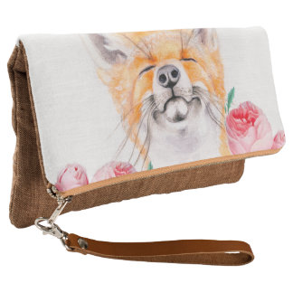 Happy Foxy And Roses Clutch