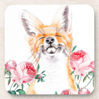 Happy Foxy And Roses Coaster