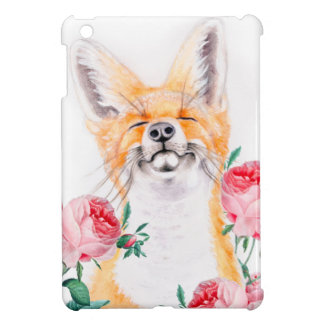 Happy Foxy And Roses Cover For The iPad Mini