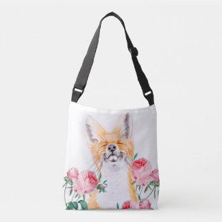Happy Foxy And Roses Crossbody Bag