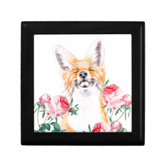 Happy Foxy And Roses Gift Box