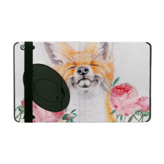 Happy Foxy And Roses iPad Case