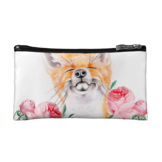 Happy Foxy And Roses Makeup Bag