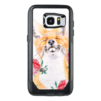 Happy Foxy And Roses OtterBox Samsung Galaxy S7 Edge Case