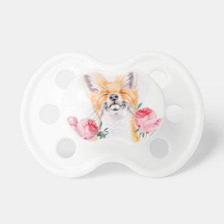 Happy Foxy And Roses Pacifier