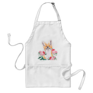 Happy Foxy And Roses Standard Apron