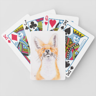 Happy Foxy Bicycle Playing Cards