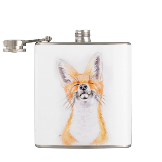 Happy Foxy Hip Flask