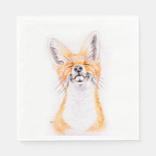 Happy Foxy Paper Napkins