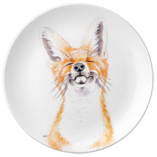 Happy Foxy Porcelain Plates