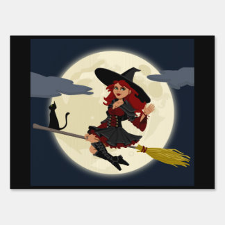 Happy Freaking Halloween Friendly Witch Yard Sign