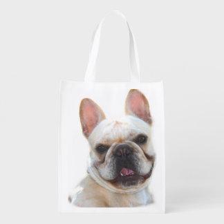 Happy French Bulldog Reusable Grocery Bag