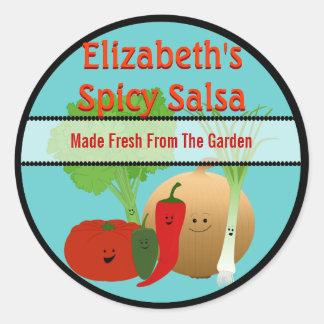 Happy Fresh Salsa Gift Tag Round Sticker