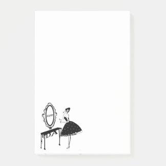 Happy Friday Fashion Illustraton Post-it Notes