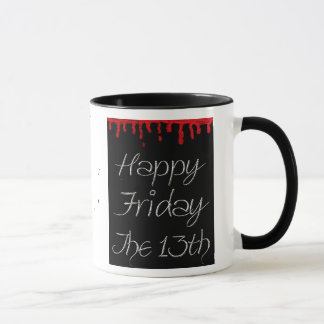 Happy Friday the 13th Blood Spatter Coffee Cup