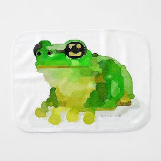 Happy Frog Baby Burp Cloth