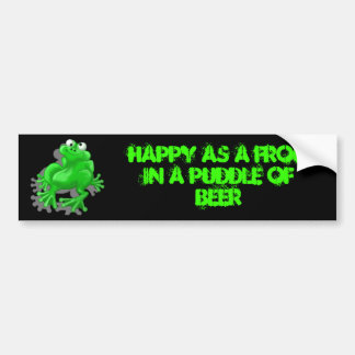 happy frog bumper sticker
