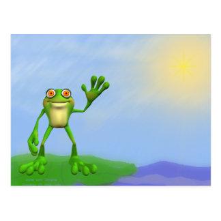Happy Frog-DIY Postcard