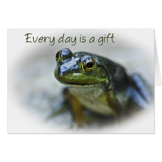 Happy Frog Encouragement Card