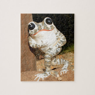 Happy frog with big eyes jigsaw puzzle