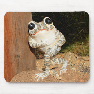 Happy frog with big eyes mouse pad