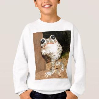 Happy frog with big eyes sweatshirt