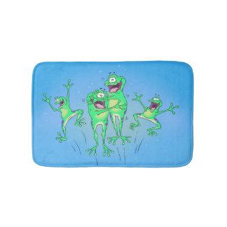 Happy Frogs Bathroom Rug