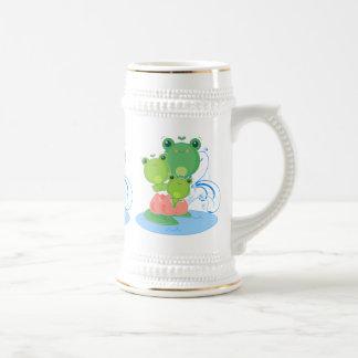 Happy Frogs Beer Stein