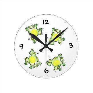 Happy Frogs Clock