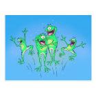 Happy Frogs Postcard