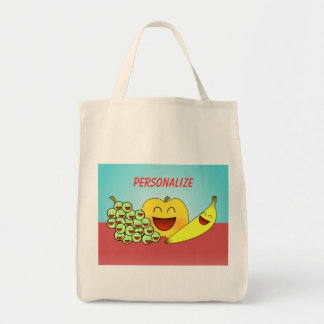 """Happy Fruit"" Grocery Tote"