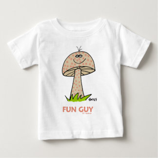 Happy Fun Baby Boy Cartoon Cute Sweet Funny Baby T-Shirt