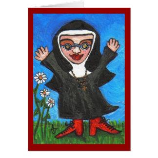 Happy Funky Preachin' Nun - card