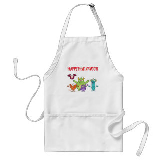 happy funny halloween monsters standard apron