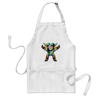 Happy Funny Monster Character Adult Apron
