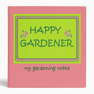 Happy Gardener Gardening Notes Binder