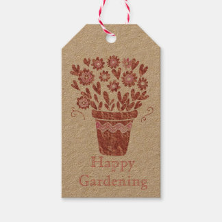 Happy Gardening Flowerpot Pack Of Gift Tags