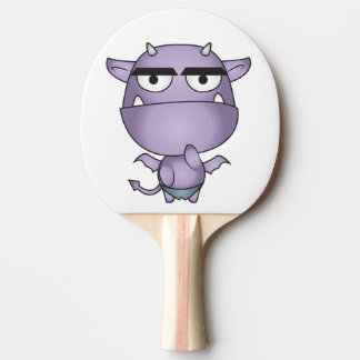 Happy Gargoyle Cartoon - Fantasy Ping Pong Paddle
