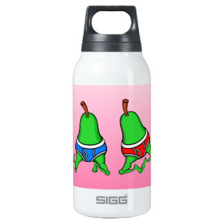 Happy Gay Pride Couple Pears Insulated Water Bottle