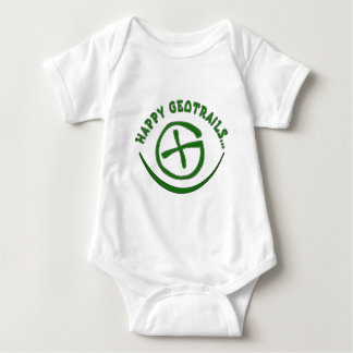 HAPPY GEOTRAILS - GEOCACHING MOTTO BABY BODYSUIT