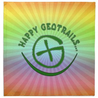 HAPPY GEOTRAILS - GEOCACHING MOTTO NAPKIN