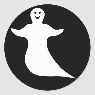 Happy Ghost Classic Round Sticker