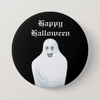 Happy Ghost Halloween 3 Inch Round Button